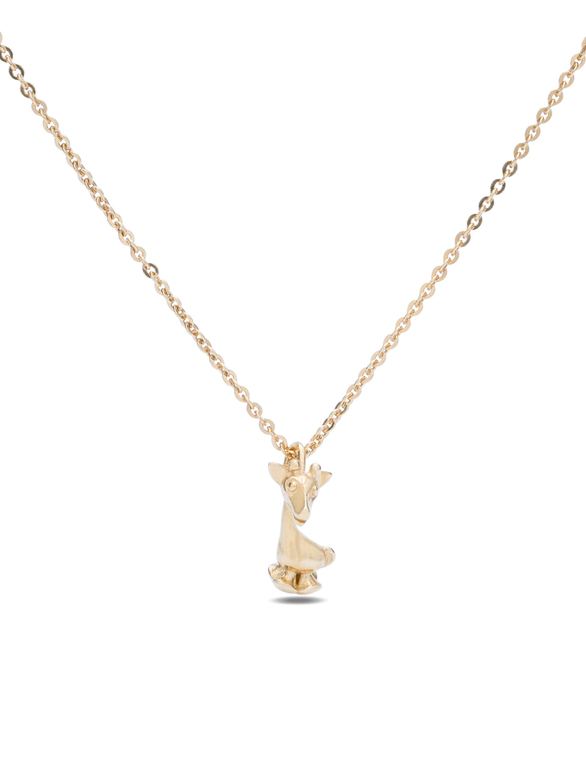 Yellow Gold Mini Giraffe Pendant/Charm - Charles Koll Jewellers