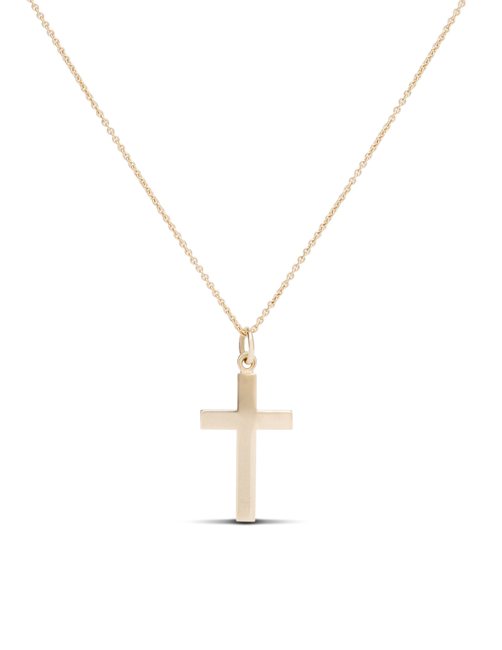 Yellow Gold Simple Cross Pendant/Charm - Charles Koll Jewellers