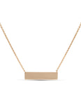 Yellow Gold Bar Necklace - Charles Koll Jewellers