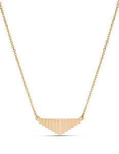 18K Yellow Gold Pyramid Necklace - Charles Koll Jewellers