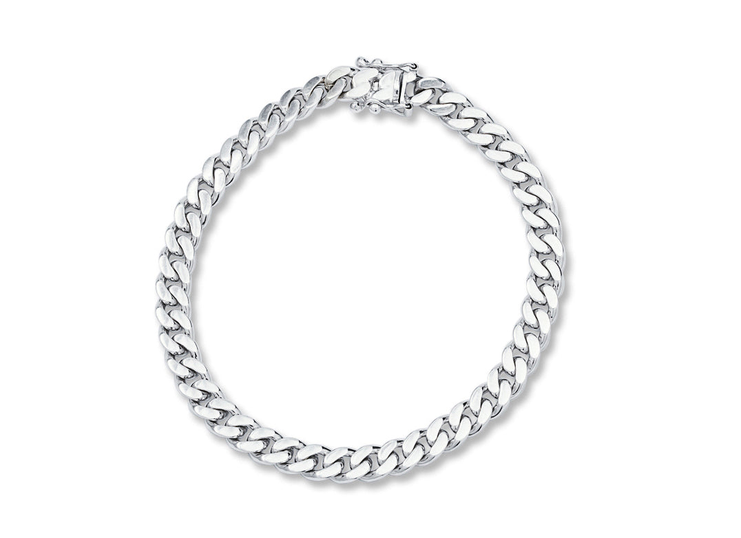 White Gold Chain Link Bracelet - Charles Koll Jewellers