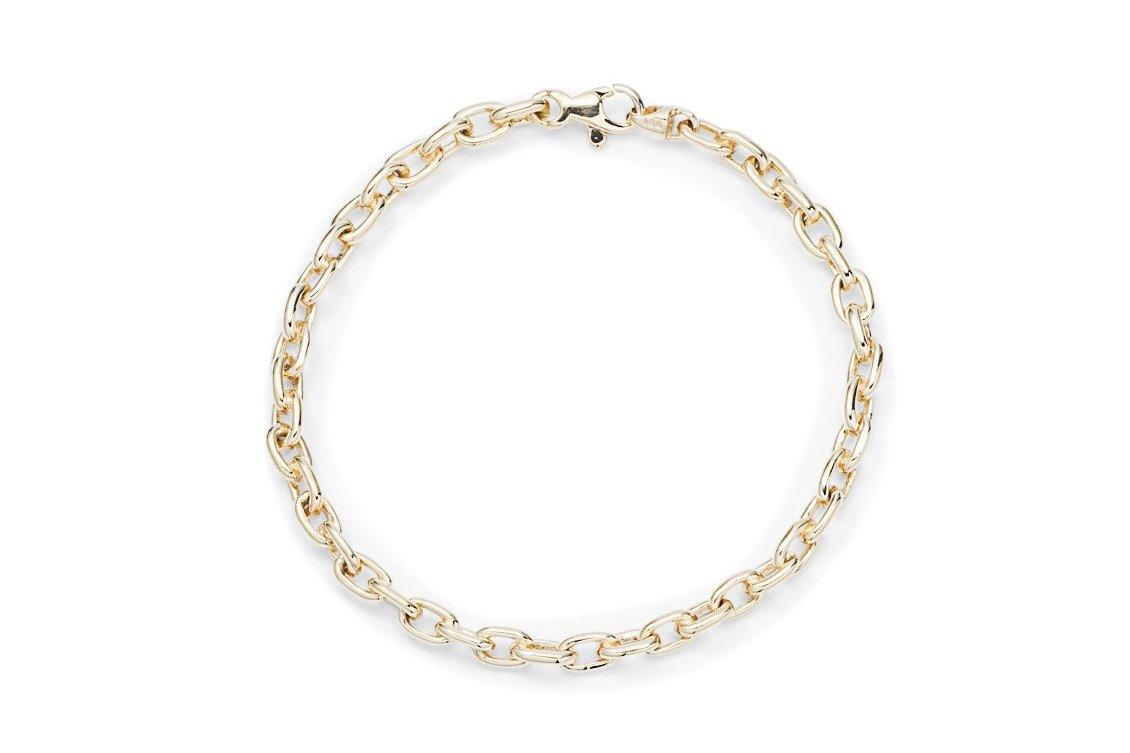 Yellow Gold Solid Link Bracelet - Charles Koll Jewellers