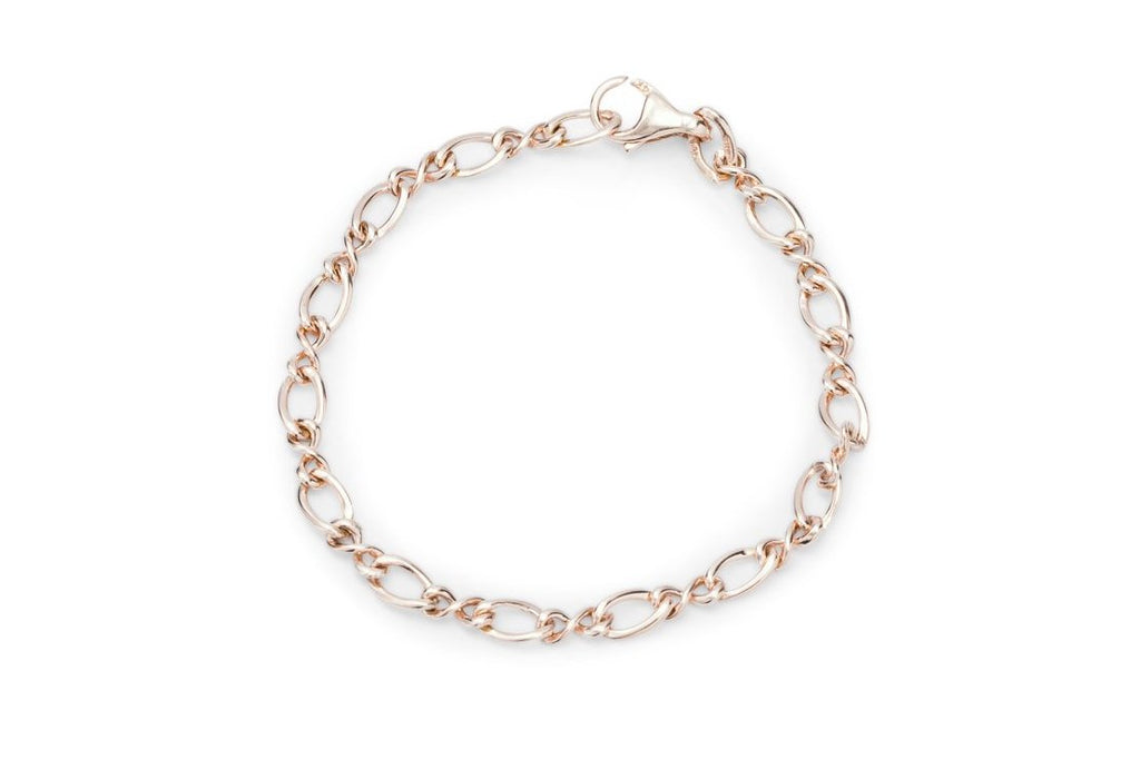 Rose Gold Fancy Link Bracelet - Charles Koll Jewellers