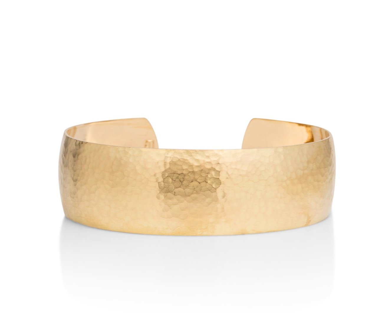 Wide Hammered Bangle - Charles Koll Jewellers
