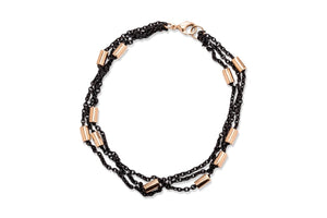 Blackened Steel and Rose Gold Bracelet - Charles Koll Jewellers