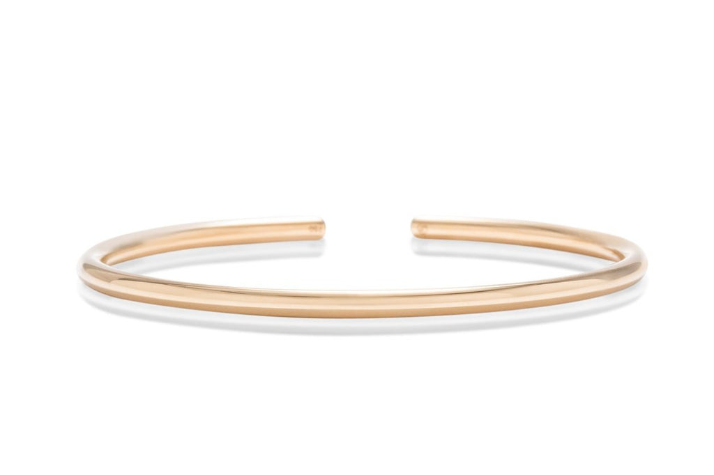 18k Gold 3mm Bangle - Charles Koll Jewellers