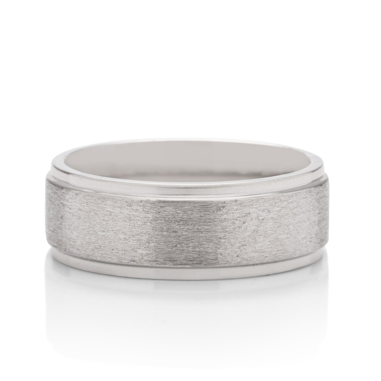 Stone Finish Men's Band - Charles Koll Jewellers