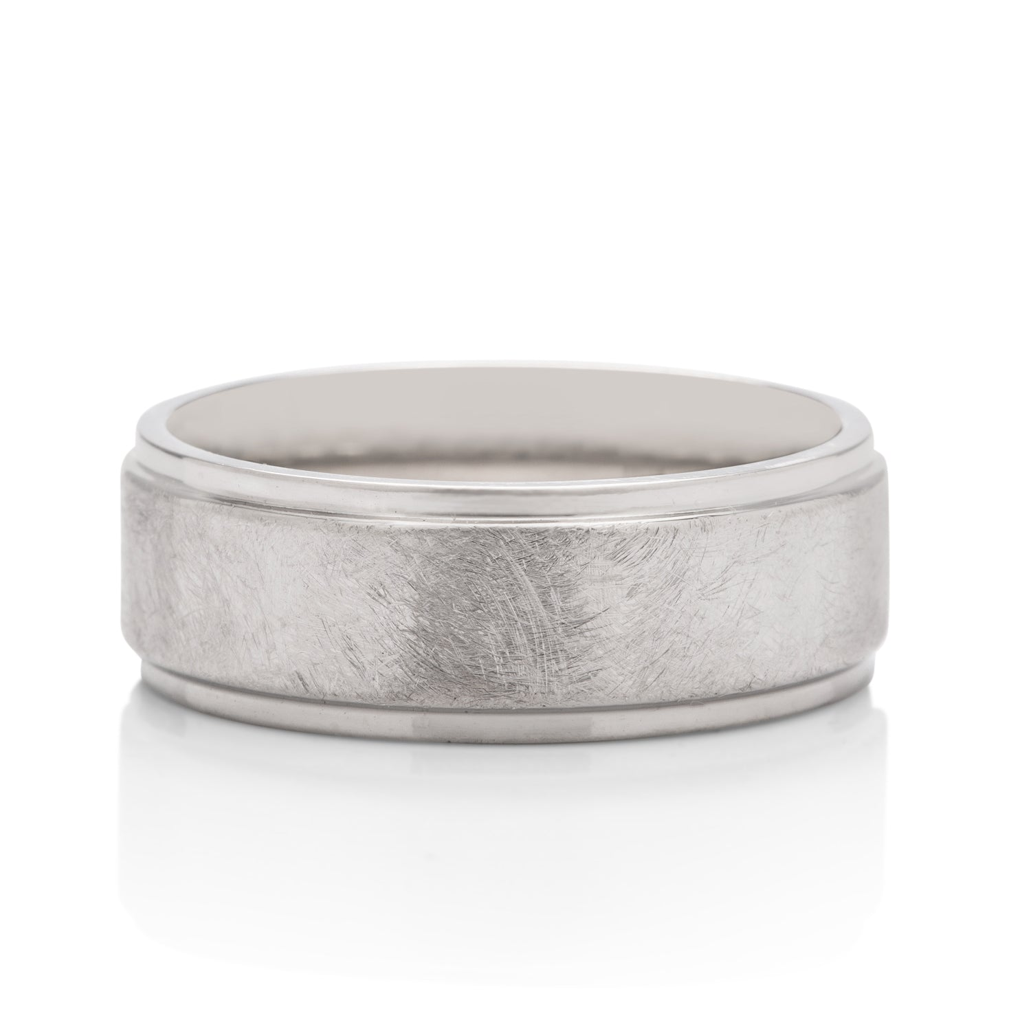 Distressed Metal Finish Men's Band - Charles Koll Jewellers