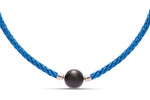 Blue Stainless Steel Twisted Cable Necklace - Charles Koll Jewellers
