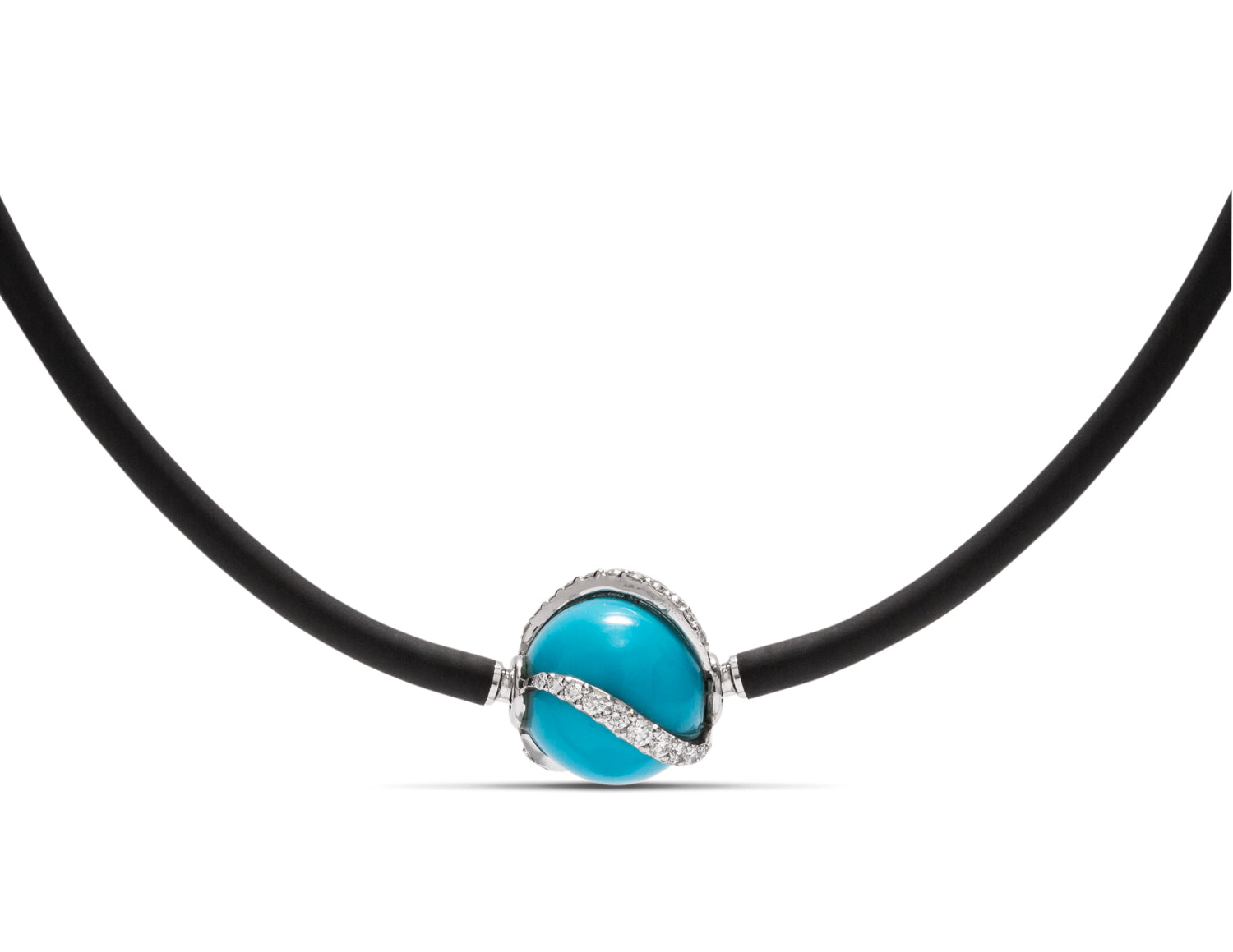 Sleeping Beauty Turquoise and Diamond Heinz Clasp - Charles Koll Jewellers