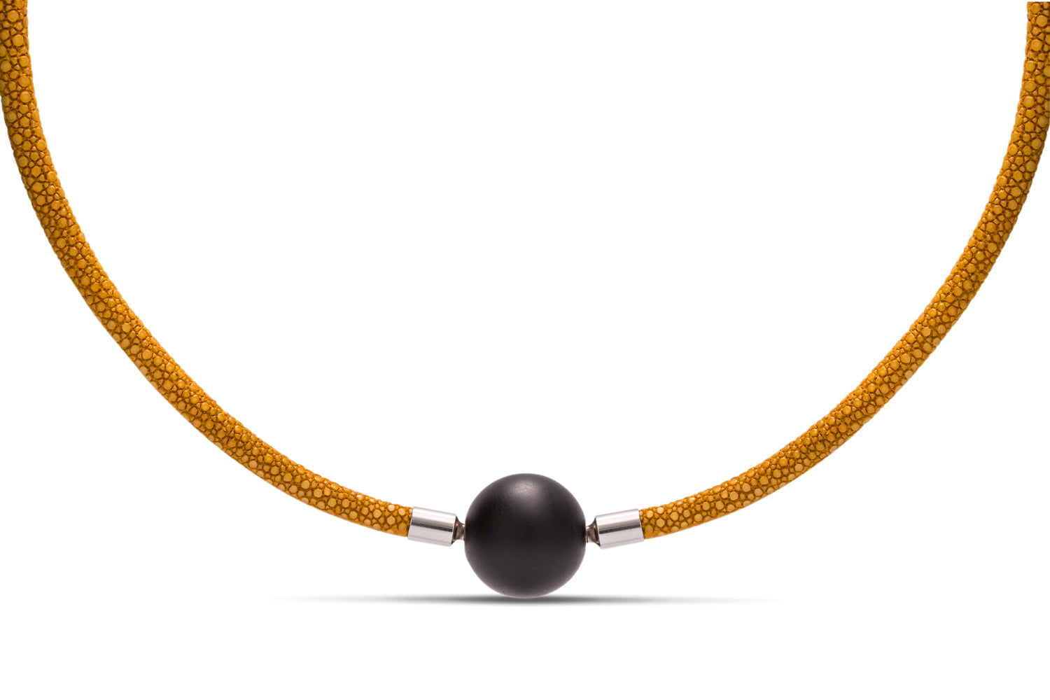 Mustard Stingray Leather Necklace - Charles Koll Jewellers