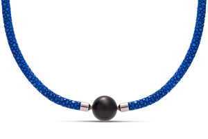 Blue Stingray Leather Necklace - Charles Koll Jewellers