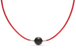 Red Leather Heinz Necklace - Charles Koll Jewellers