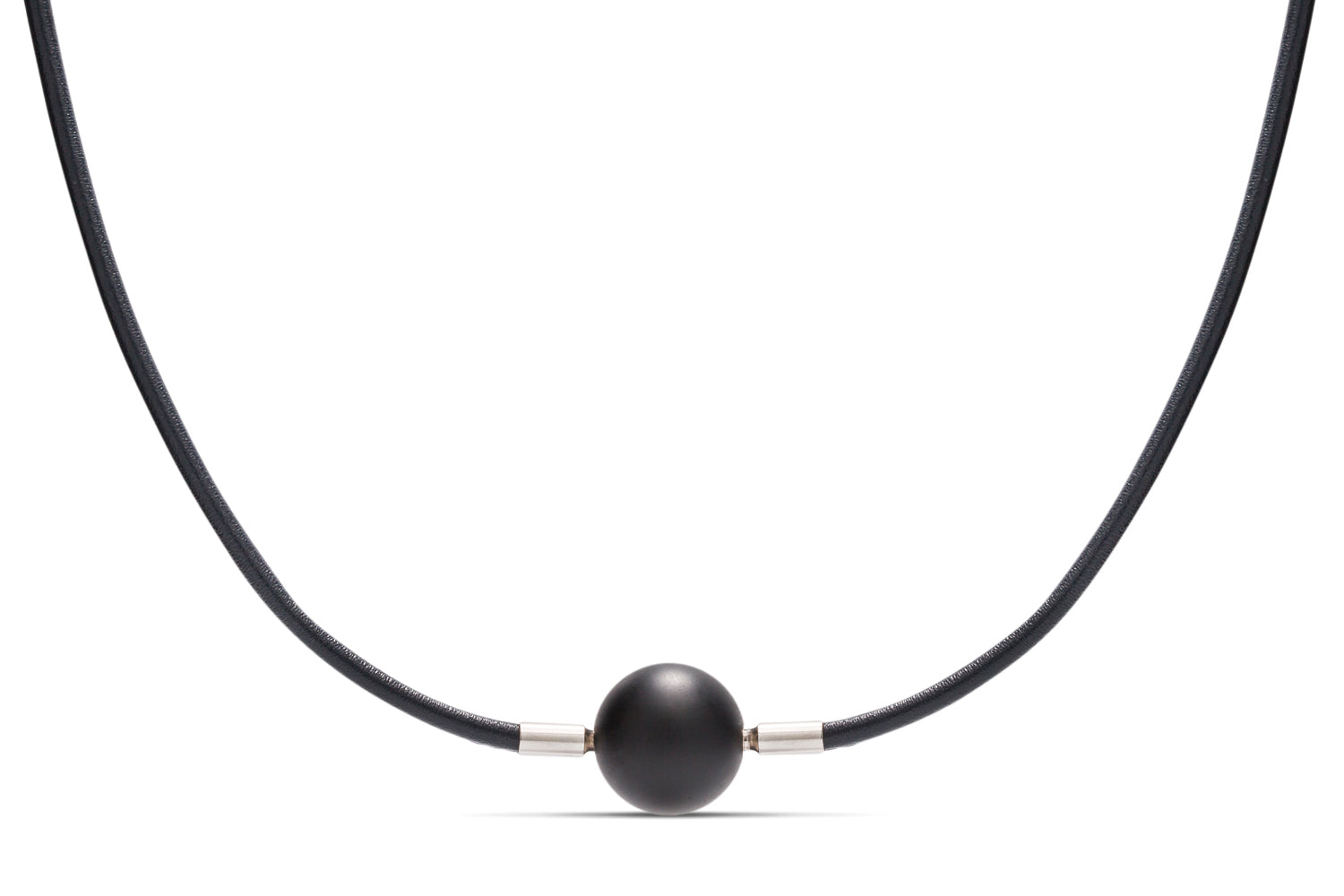 Dark Blue Leather Heinz Necklace - Charles Koll Jewellers