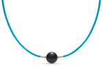 Turquoise Leather Necklace - Charles Koll Jewellers