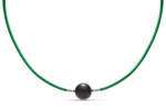 Green Leather Heinz Necklace - Charles Koll Jewellers