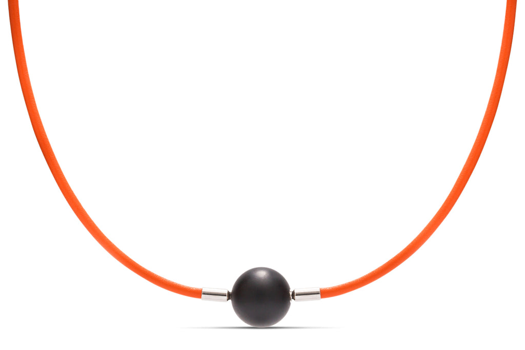 Orange Leather Heinz Necklace - Charles Koll Jewellers