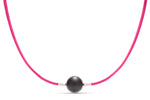 Fuchsia Leather Heinz Necklace - Charles Koll Jewellers