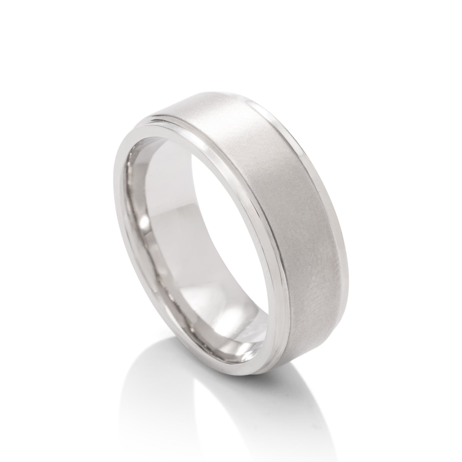 Bead Polished Men's Band - Charles Koll Jewellers