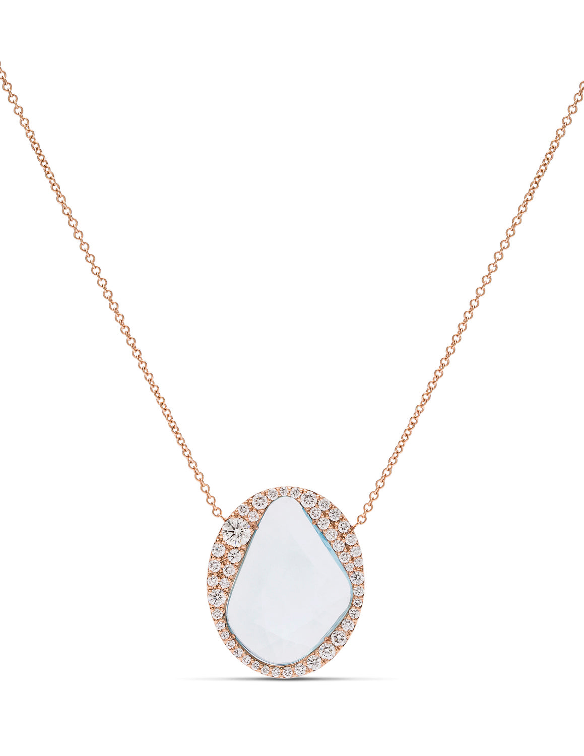 Aquamarine and Diamond Necklace - Charles Koll Jewellers