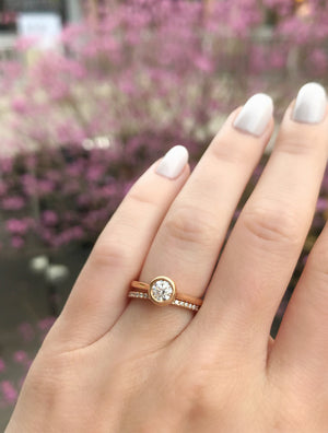 Rose Gold Bezel Solitaire Engagement Ring - Charles Koll Jewellers