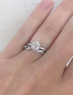 Simple Cushion Solitaire Engagement Ring - Charles Koll Jewellers
