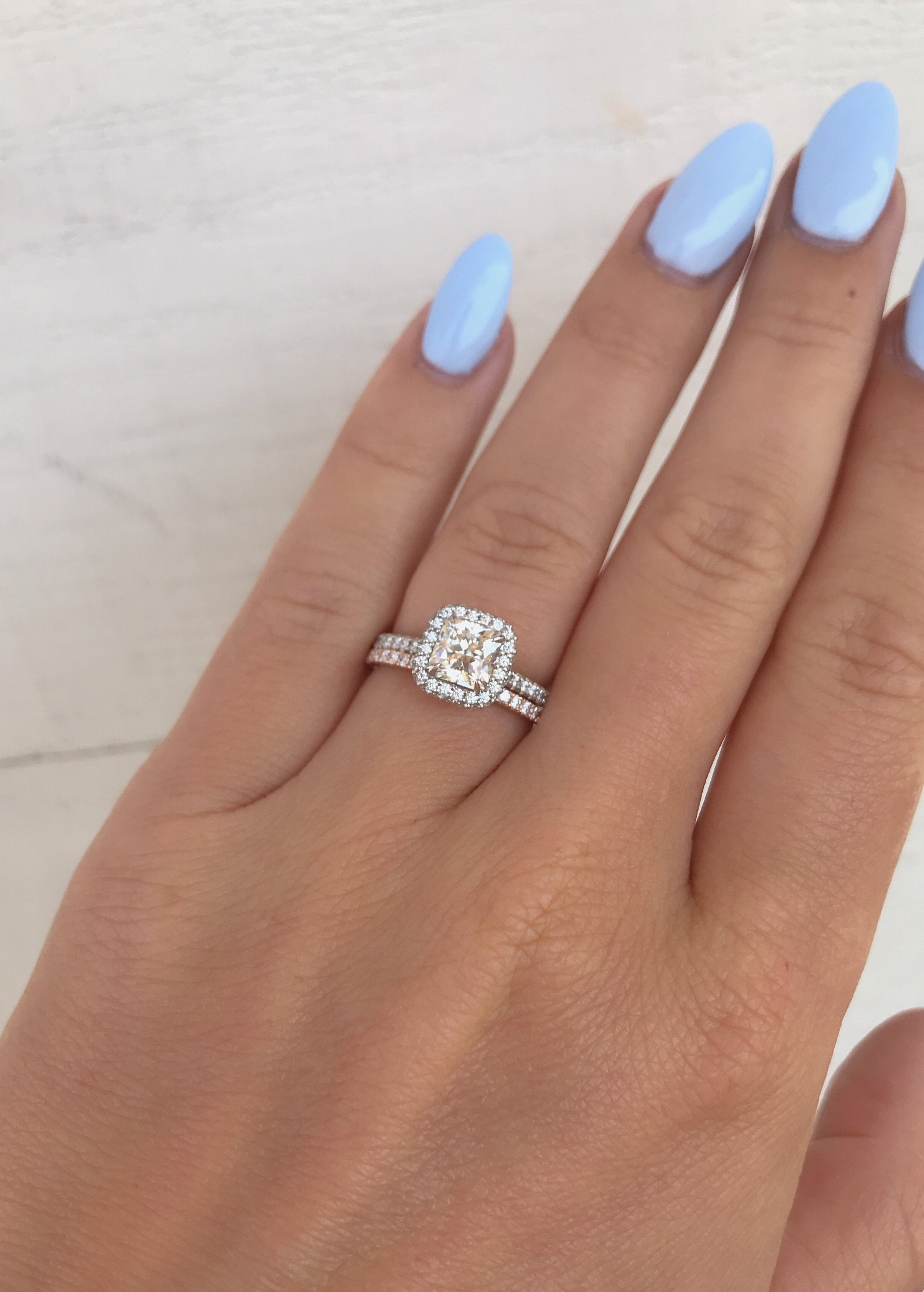 Cushion Halo Diamond Engagement Ring - Charles Koll Jewellers