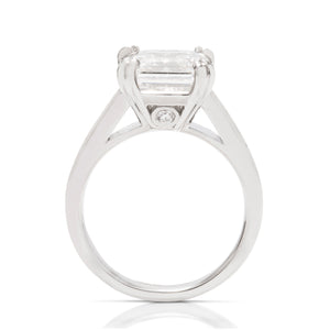 Custom 3ct Asscher Engagement Ring - Charles Koll Jewellers