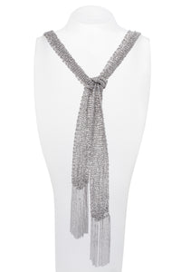 White Gold Scarf Necklace - Charles Koll Jewellers