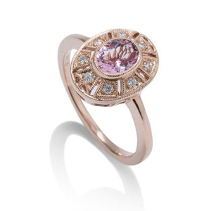 Morganite and Diamond Ring - Charles Koll Jewellers