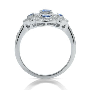 Sapphire and Diamond Antique-Style Ring - Charles Koll Jewellers