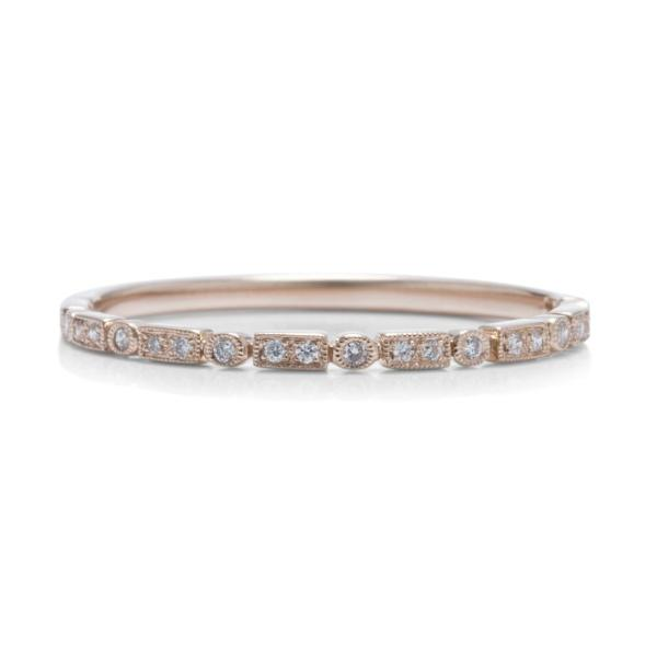 Skinny Rose Gold Wedding Band - Charles Koll Jewellers