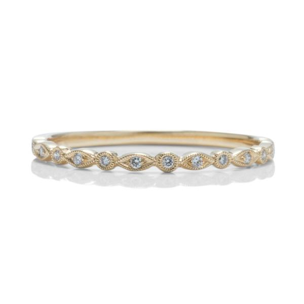 Skinny Yellow Gold Wedding Band - Charles Koll Jewellers
