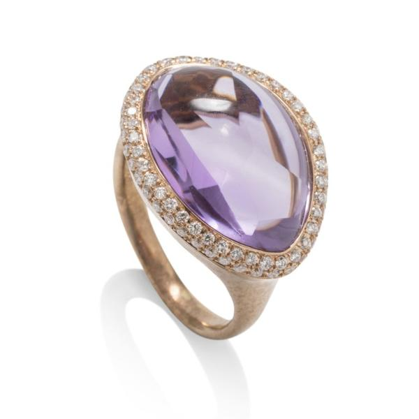 Rose Gold Amethyst  Ring - Charles Koll Jewellers