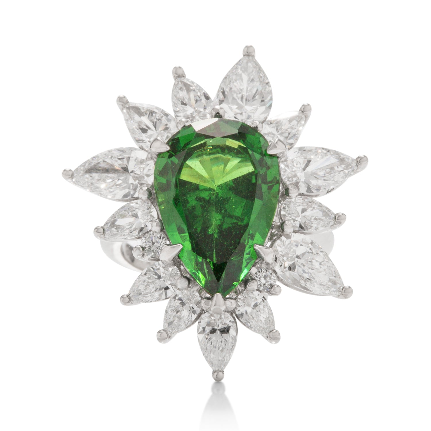 Custom Tsavorite and Diamond Ring - Charles Koll Jewellers