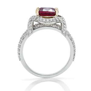 3.56 Ct Ruby Center Stone Ring - Charles Koll Jewellers