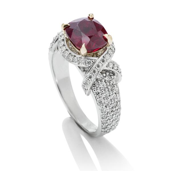 3.56 ct Burmese Ruby and Diamond Ring - Charles Koll Jewellers