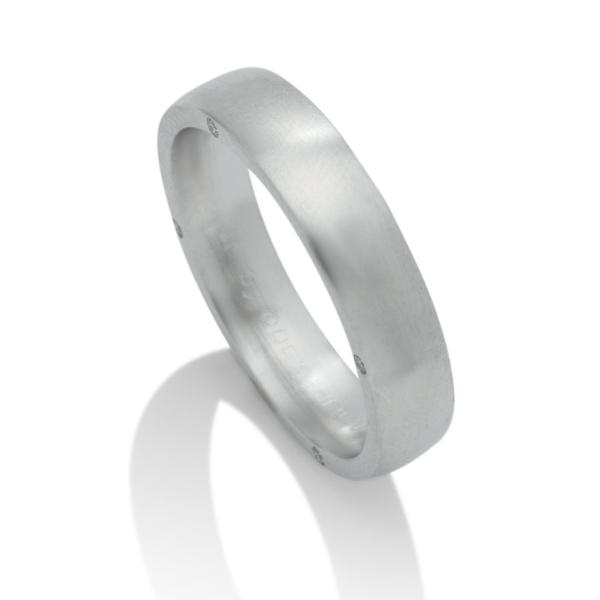 Secret Diamond Platinum Men's Band - Charles Koll Jewellers