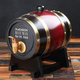 Groomsmen Gifts, Personalized Barrel - Dark Red - Engravedideas