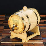 Personalized Barrel with Metal Tap, Groomsmen Gifts, Christmas Gift - Natural