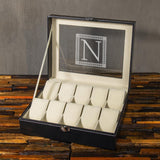 Christmas Gift, Personalized Watch Box 10 Slots, Gifts for Men - Engravedideas