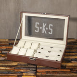 Christmas Gift, Personalized Watch Box 6 watch and 3 sunglasses slots, Customized Gift Brown - Engravedideas
