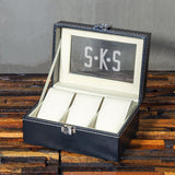 Christmas Gift, Personalized Watch Box 3 Slots, Gift for Men - Engravedideas