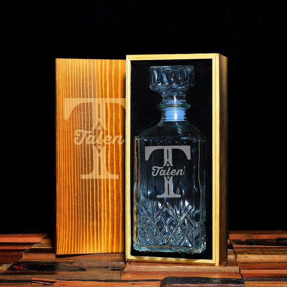 Personalized Whiskey Decanter - Groomsmen Gifts