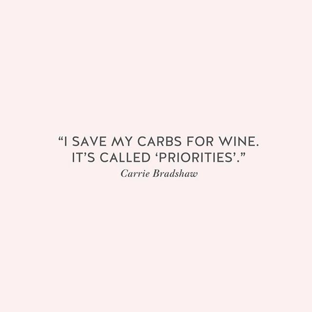 Save Your Carbs for Wine at Christmas. It's Called Priorities…