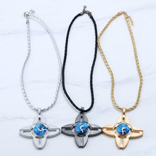 1pc fingertip gyro necklace Pendant Time Necklace Gold Silver Black Tri Fidget Hand Spinner Finger Focus Toy #GH20