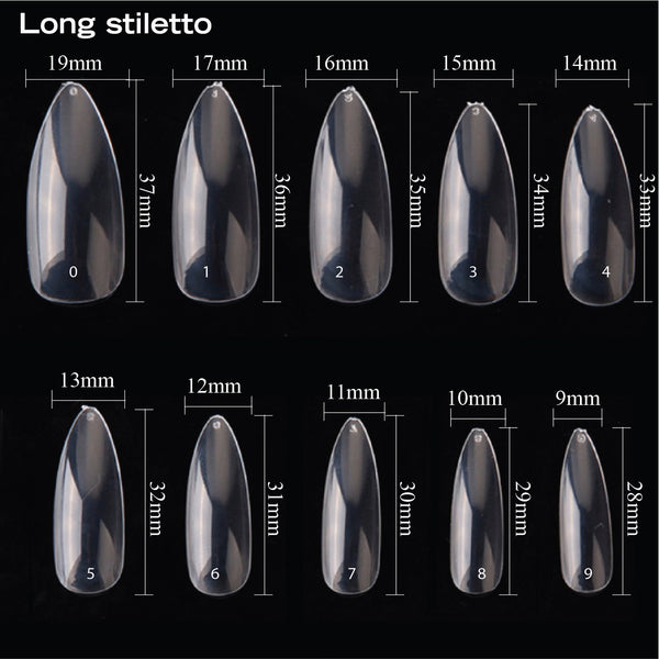 BLANK STILETTO NAIL TIPS 500PCS