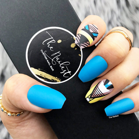 INSTANT GLAM- BLUE MOON- GEOMETRIC SHAPES
