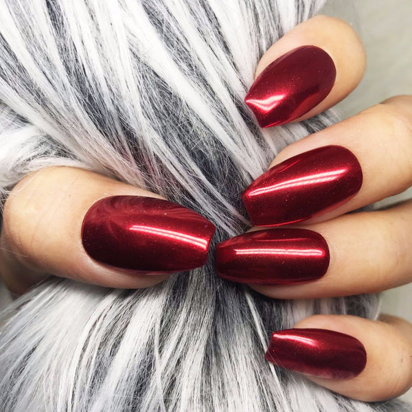 RED MIRROR CHROME SET