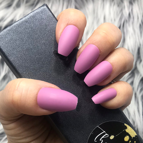 INSTANT GLAM- SOLID MATTE VIOLET COFFIN SET